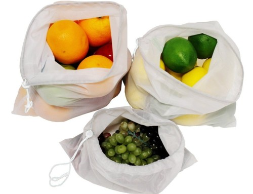 Fruit and vegetable mesh produce bags