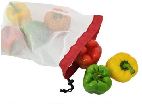 Fruit and vegetable spliced mesh produce bags