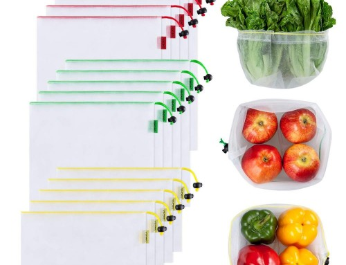 reusable mesh produce bag for fruit 7pcs/set