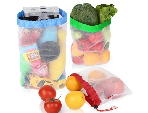 Spliced reusable mesh bag for fruit 6pcs/set