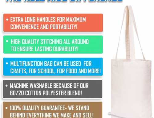 Eco-friendly Solid Canvas Tote Bag